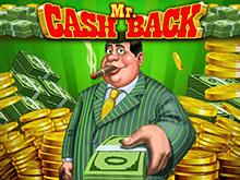 Mr. Cashback игровой аппарат с яркими символами и виртуальными призами